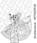 indonesian dancer. doodle art   Shutterstock .eps vector #497650918