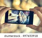 travel trip  vacation camera... | Shutterstock . vector #497653918