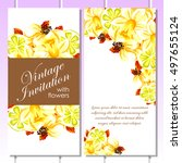 romantic invitation. wedding ... | Shutterstock .eps vector #497655124