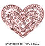 hand drawn heart henna  mehndi  ...