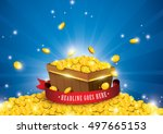vector of gold coins splashing  ... | Shutterstock .eps vector #497665153