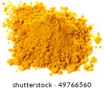 pile of curry powder isolated... | Shutterstock . vector #49766560