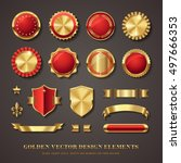 collection of elegant red and... | Shutterstock .eps vector #497666353