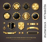 collection of elegant black and ... | Shutterstock .eps vector #497666356