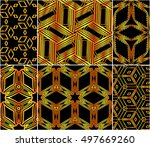abstract design of cubes. set... | Shutterstock .eps vector #497669260