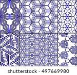 cube geometry design. set of 6... | Shutterstock .eps vector #497669980