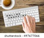 concept of online shopping...   Shutterstock . vector #497677066