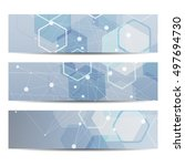 abstract geometric banners... | Shutterstock .eps vector #497694730
