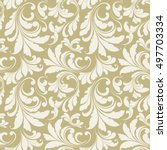 floral seamless pattern.... | Shutterstock .eps vector #497703334
