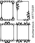 four classical decor frames. | Shutterstock .eps vector #49771039