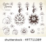 vector set with fantastic... | Shutterstock .eps vector #497711389