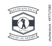 golf academy vintage logo ... | Shutterstock .eps vector #497717380