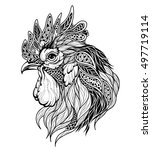 rooster head   Shutterstock .eps vector #497719114