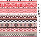 tribal seamless pattern.... | Shutterstock .eps vector #497719318
