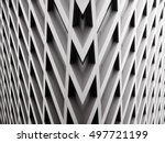 modern office building with... | Shutterstock . vector #497721199