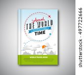 world travel book template... | Shutterstock .eps vector #497722666