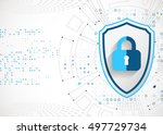 protection concept. protect... | Shutterstock .eps vector #497729734