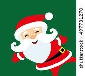 vector illustration. santa... | Shutterstock .eps vector #497731270