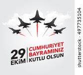 29th october national republic... | Shutterstock .eps vector #497735104