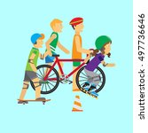 summer sport. active way of...   Shutterstock . vector #497736646