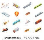 collection of transport icons.  ... | Shutterstock . vector #497737708