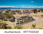 monte alban is an ancient... | Shutterstock . vector #497743420