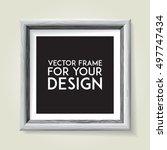 wooden picture frame. vector... | Shutterstock .eps vector #497747434
