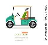 Golf Club Symbol Banner Flat...