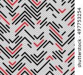 seamless zigzag pattern.... | Shutterstock .eps vector #497753254