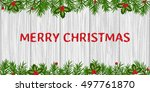 greeting card mery christmas | Shutterstock .eps vector #497761870