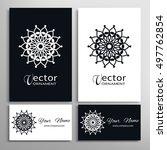 black and white vector...   Shutterstock .eps vector #497762854