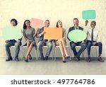 business team speech bubble... | Shutterstock . vector #497764786