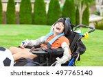 Ten Year Old Biracial Disabled...