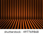 stripe room for halloween...   Shutterstock . vector #497769868