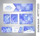 merry christmas banner  flyers  ... | Shutterstock .eps vector #497771023