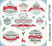 set christmas wishes banner... | Shutterstock .eps vector #497774749