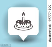 pictograph of cake | Shutterstock .eps vector #497774800