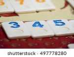 multicolored numbered game... | Shutterstock . vector #497778280