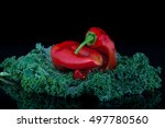 eko paprika and kale of... | Shutterstock . vector #497780560