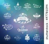 merry christmas lettering... | Shutterstock .eps vector #497781094