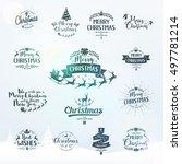 merry christmas lettering... | Shutterstock .eps vector #497781214