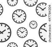 seamless background with clocks.