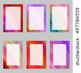 colorful abstract digital art... | Shutterstock .eps vector #497784559