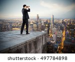 businessman looking to the... | Shutterstock . vector #497784898