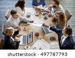 people meeting brainstorming... | Shutterstock . vector #497787793