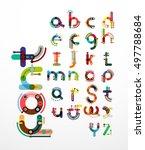 linear design font  alphabet... | Shutterstock . vector #497788684