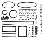 set of hand drawn elements for... | Shutterstock .eps vector #497800840