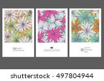 set of greeting cards with... | Shutterstock .eps vector #497804944