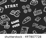 video game seamless background | Shutterstock .eps vector #497807728