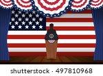 presidential election banner... | Shutterstock .eps vector #497810968